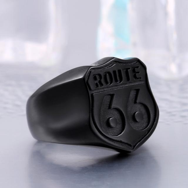 Route 66 Badass Ring ring The Mighty Skull ™ 7 Black Color