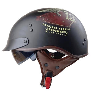 Genuine Leather Retro Helmet The Mighty Skull ™ Tank 13 M