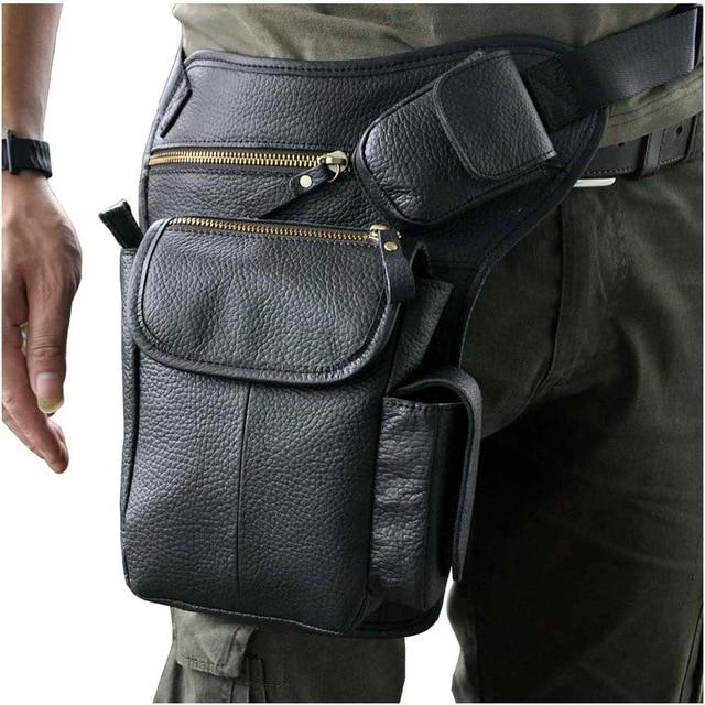 TMS Leather Crossbody Leg Bag The Mighty Skull ™ black