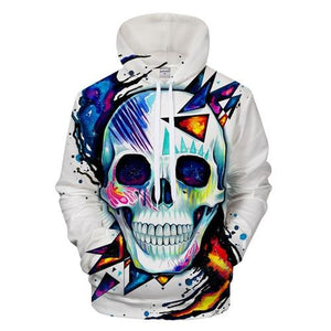 Cold Art Skull Hoodies The Mighty Skull ™ LMS369 4XL