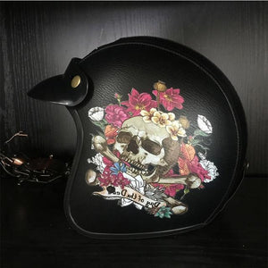 Vintage Flower Skull Helmet The Mighty Skull ™ Black 2 M