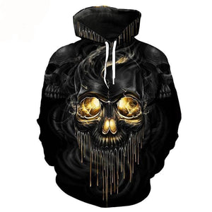 Tracksuit Casual Skull Hoodies The Mighty Skull ™