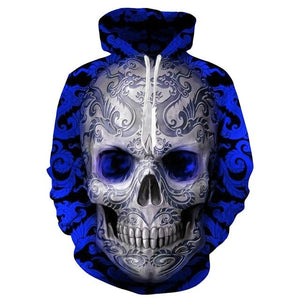 Fashion Autumn Hoodies hoodies The Mighty Skull ™ B1 XXXL