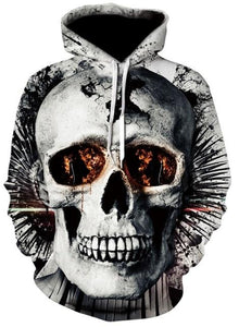 Novelty Hip-Hop Skull Hoodies The Mighty Skull ™ 2 S