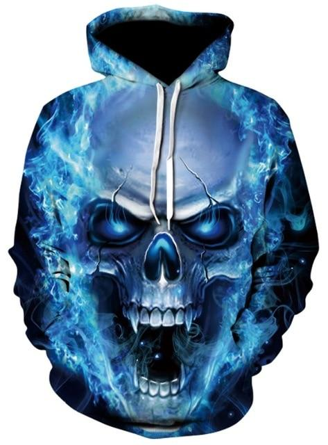 Novelty Hip-Hop Skull Hoodies The Mighty Skull ™ 3 S