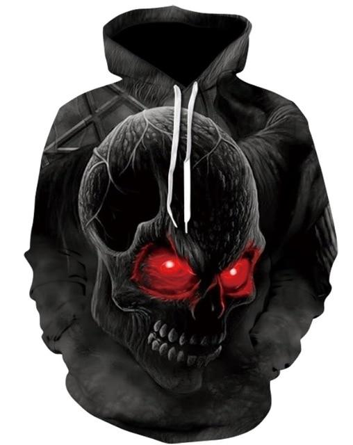 Novelty Hip-Hop Skull Hoodies The Mighty Skull ™ 4 S