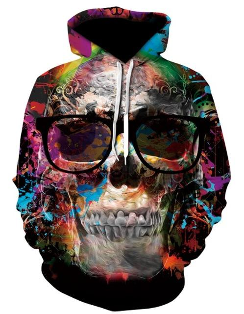 Novelty Hip-Hop Skull Hoodies The Mighty Skull ™ 11 S
