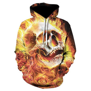 Novelty Hip-Hop Skull Hoodies The Mighty Skull ™ 16 S