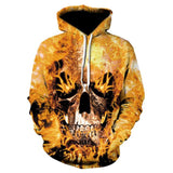 Novelty Hip-Hop Skull Hoodies The Mighty Skull ™ 17 S