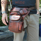 TMS Leather Crossbody Leg Bag The Mighty Skull ™ wine
