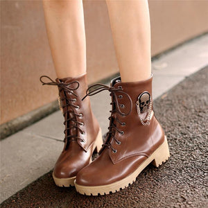 Women Fashion Ankle Boots The Mighty Skull ™