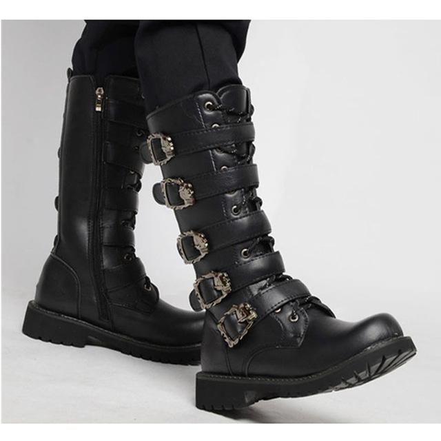 TMS Black Mid Calf Boots The Mighty Skull ™ Black 6