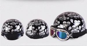 Vintage Skull Motorcycle Helmets (with Goggles) The Mighty Skull ™