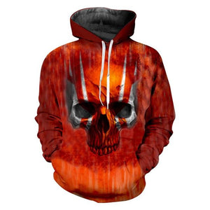 Pullover Quality Skull Hoodies The Mighty Skull ™ Red Skull S
