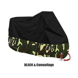 TMS All Weather Motorcycle Cover The Mighty Skull ™ XL Black & Camo