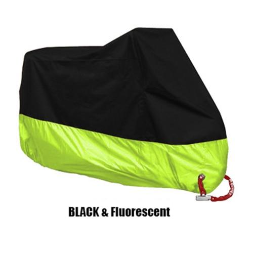 TMS All Weather Motorcycle Cover The Mighty Skull ™ XL Black & Fluorescent