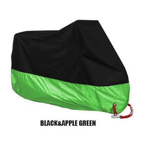 TMS All Weather Motorcycle Cover The Mighty Skull ™ XL Black & Green