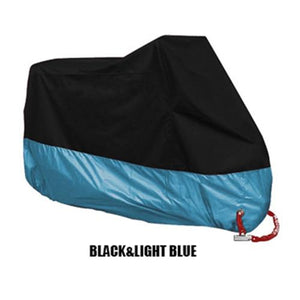 TMS All Weather Motorcycle Cover The Mighty Skull ™ XL Black & Blue