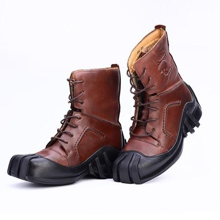 Skull Genuine Leather Boots The Mighty Skull ™ Brown 7