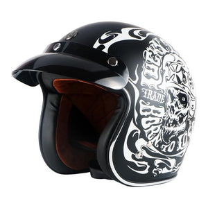 TMS Vintage Skull Helmet The Mighty Skull ™ Matt black M