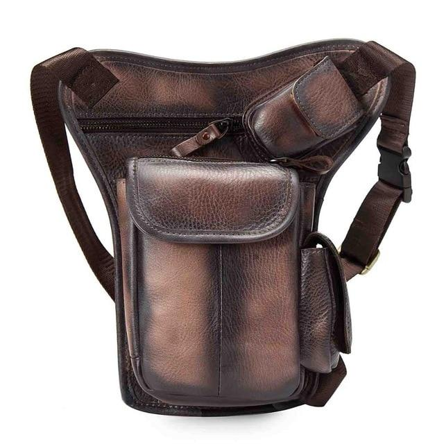 TMS Leather Crossbody Leg Bag The Mighty Skull ™ dark brown 2