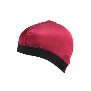 Biker's Silky Dome Cap The Mighty Skull ™ Red Size Fits All