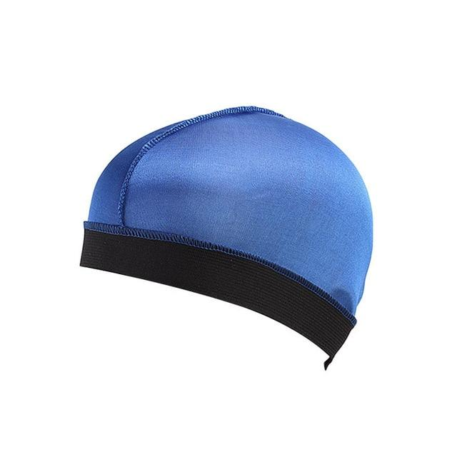 Biker's Silky Dome Cap The Mighty Skull ™ Blue Size Fits All