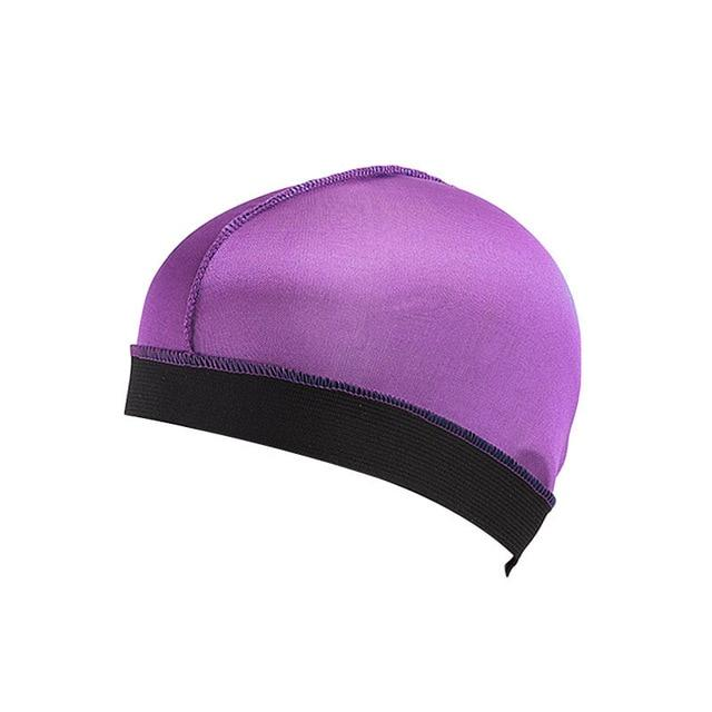 Biker's Silky Dome Cap The Mighty Skull ™ Purple Size Fits All