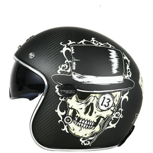 Skull Open Face Helmet The Mighty Skull ™ Black M