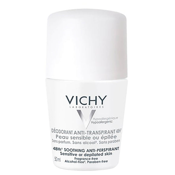 Vichy: 48Hr Roll-on Deodorant Soothing Anti-Perspirant [French Import]