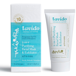 Lavido: 2-in-1 Purifying Facial Mask & Exfoliator