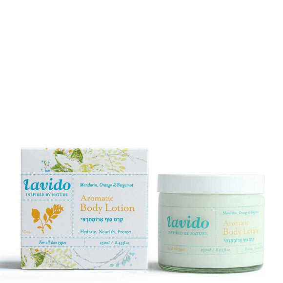 Lavido: Aromatic Body Lotion Mandarin Orange & Bergamot (250ml).