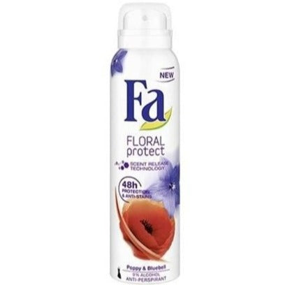 Fa: Deodorant Spray Floral Protect 48H - Poppy & Bluebell