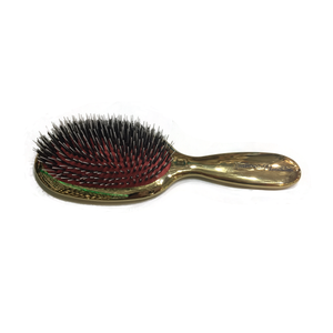 Gold Handle Boar and Nylon Brush Small