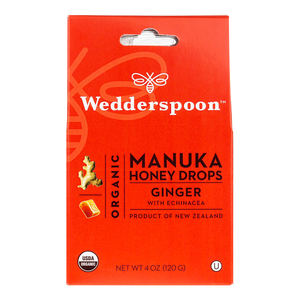 Wedderspoon: Organic Manuka Honey Lozenges - Ginger