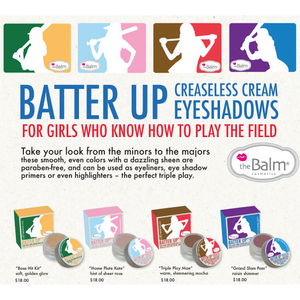 theBalm: Batter Up Creaseless Cream Eyeshadows