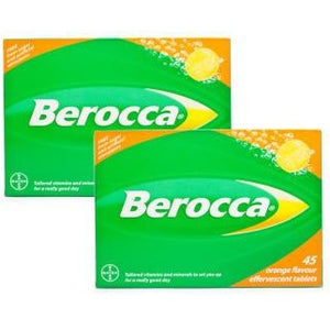 Berocca: 60  Orange Flavored Effervescent Tablets (European Formula)
