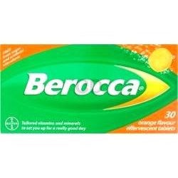Berocca: 30 Orange Flavored Effervescent Tablets (European Formula)