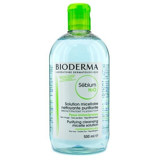 Bioderma: Sébium H2O Non Rinse Face and Eyes Cleanser for Combination or Oily Skin 500 ml