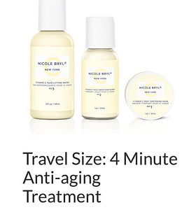 Nicole Bryl: 4 Minute Anti-Aging Treatment (3 Piece Travel Kit)
