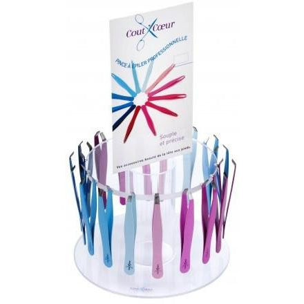 Cout'Coeur: Professional colored tweezers, crab ends