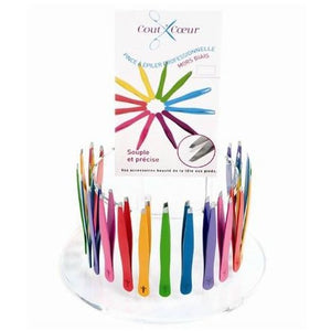 Cout'Coeur: Professional colored tweezers, slant ends