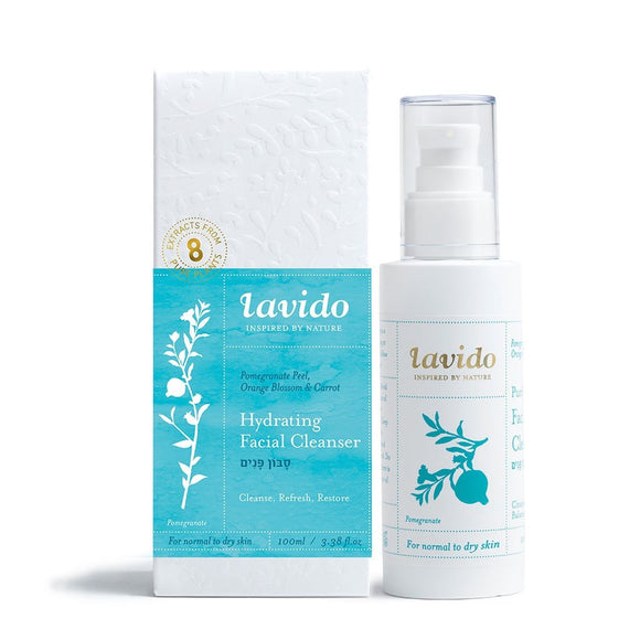 Lavido: Hydrating Facial Cleanser Pomegranate, Orange Blossom, and Carrot