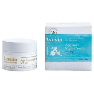 Lavido: Age Away Night Cream  Pomegranate Seed, St. John's Wort, and Bergamot