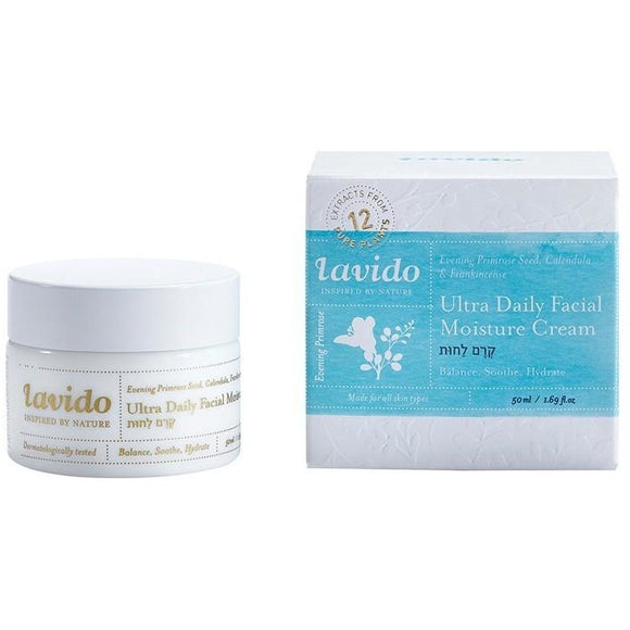 Lavido: Ultra Daily Moisture Cream - Evening Primrose Seed, Calendula, and Frankincense NEW FORMULA