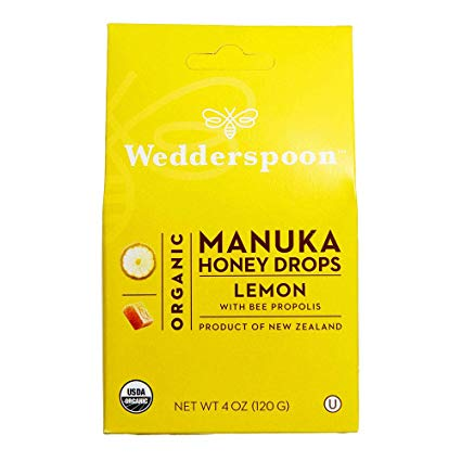 Wedderspoon: Organic Manuka Honey Lozenges - Lemon
