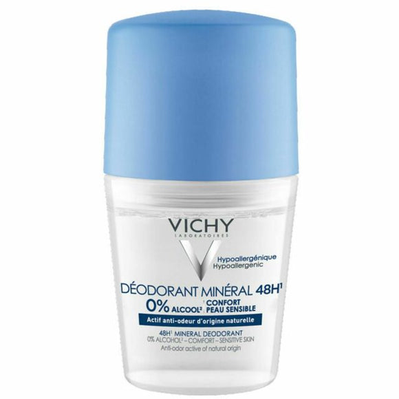 Vichy: 48Hr Mineral Roll-on Deodorant Aluminium-Salt Free [French Import]