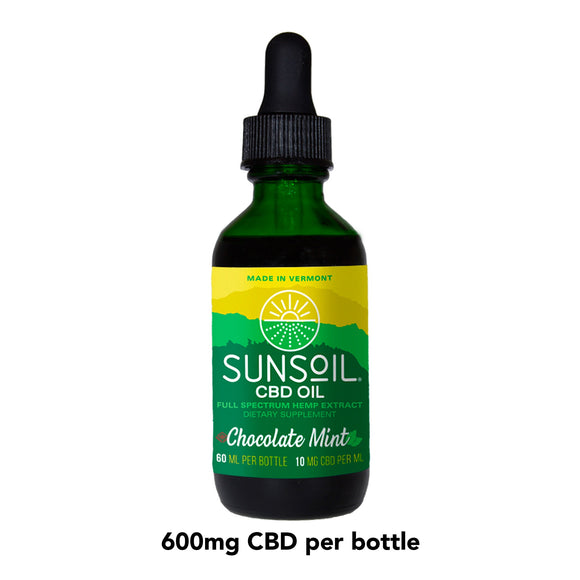 SunSoil Chocolate Mint CBD Oil