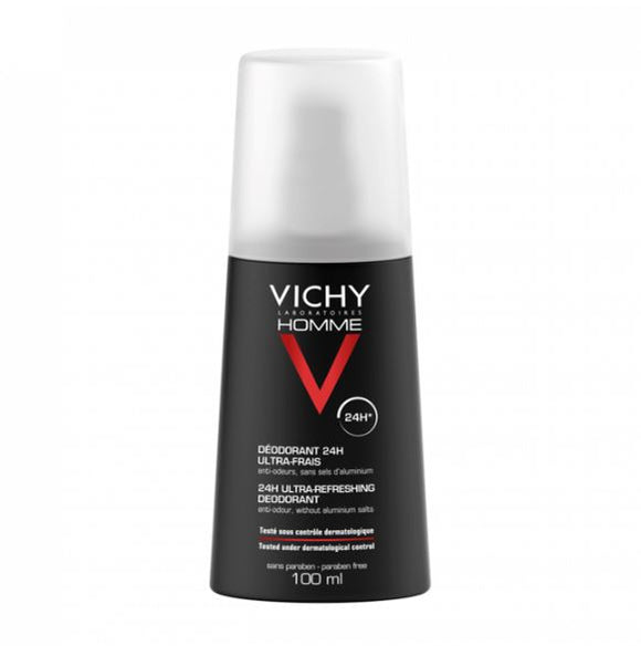 Vichy: Homme 24Hr Deodorant Spray Ultra-Refreshing Aluminum-Free [French Import]