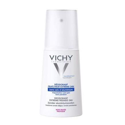 Vichy: 24Hr Deodorant Spray Aluminum-Free Extreme Freshness [French Import]